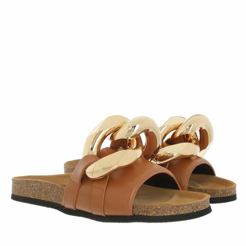 j.w.anderson -  Loafers & Ballerinas - Calf Tresor Slides - in braun - für Damen