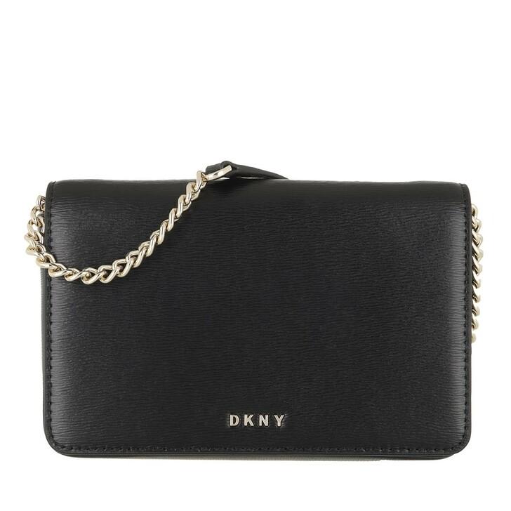 Handtasche, DKNY, Bryant Full Flap Crossbody Black Gold