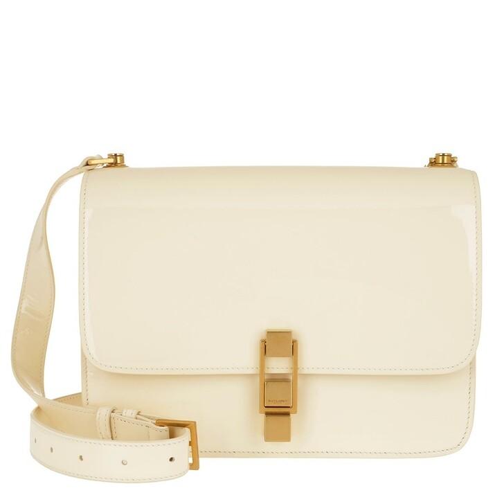 bags, Saint Laurent, Carre Satchel Bag Patent Leather Coquille