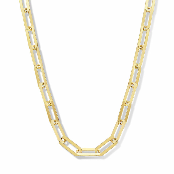 necklaces, Isabel Bernard, Aidee Idalie 14 Karat Chain Necklace Gold