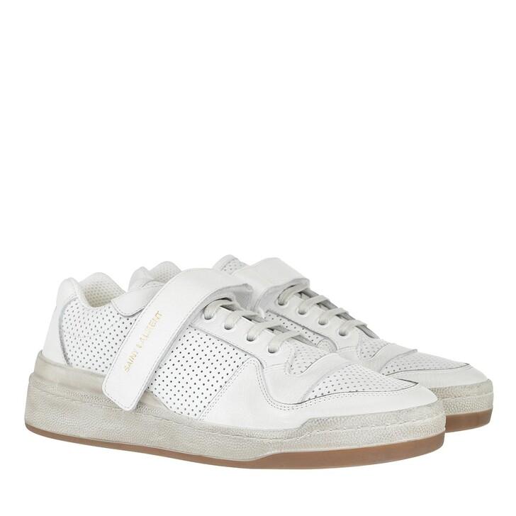Schuh, Saint Laurent, Low Top Sneakers White
