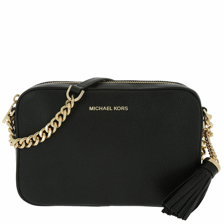 Handtasche, MICHAEL Michael Kors, Ginny Leather Crossbody Bag Black