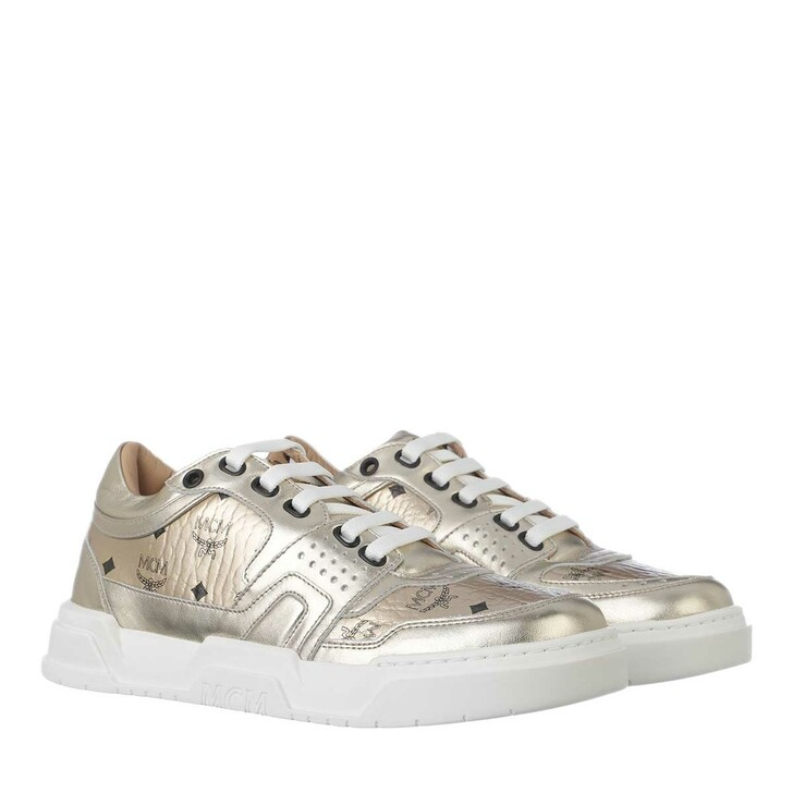 Schuh, MCM, Skyward Low Top Sneaker Visetos Gold