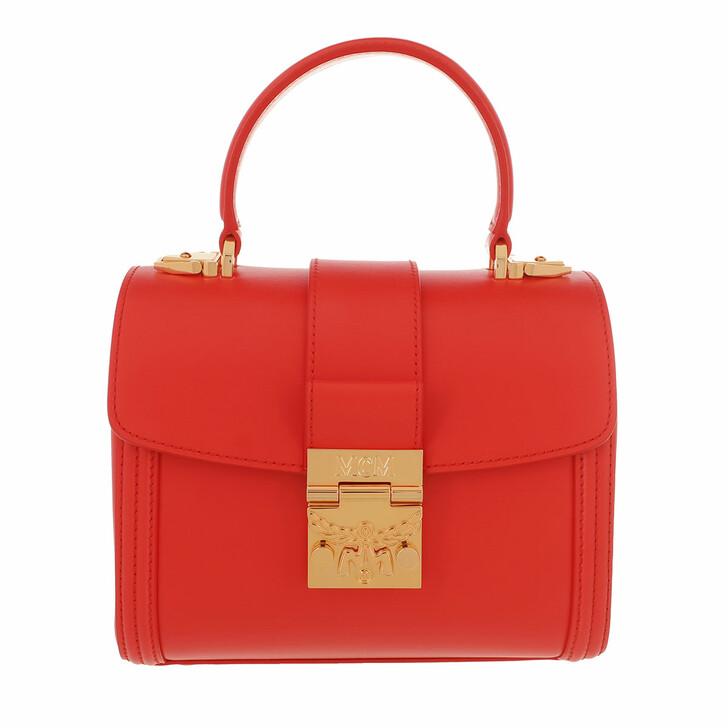 Handtasche, MCM, Small Tracy Satchel Bag Red Fiesta