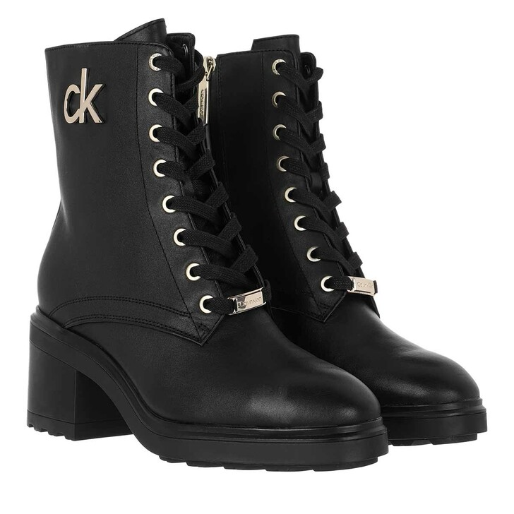 shoes, Calvin Klein, Cleat Lace Up Ankle 35 CK Black