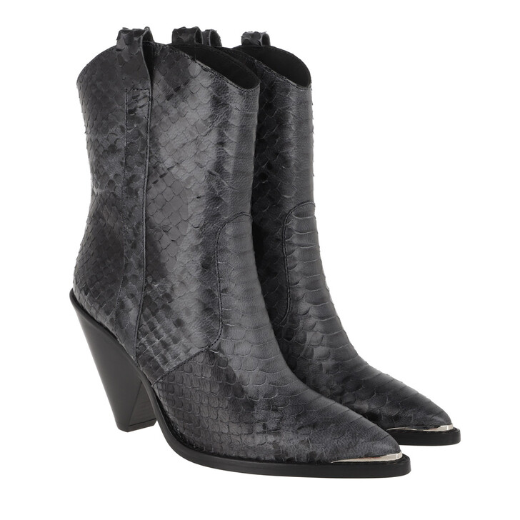 Schuh, Toral, Coned Heel Ankle Boots Black