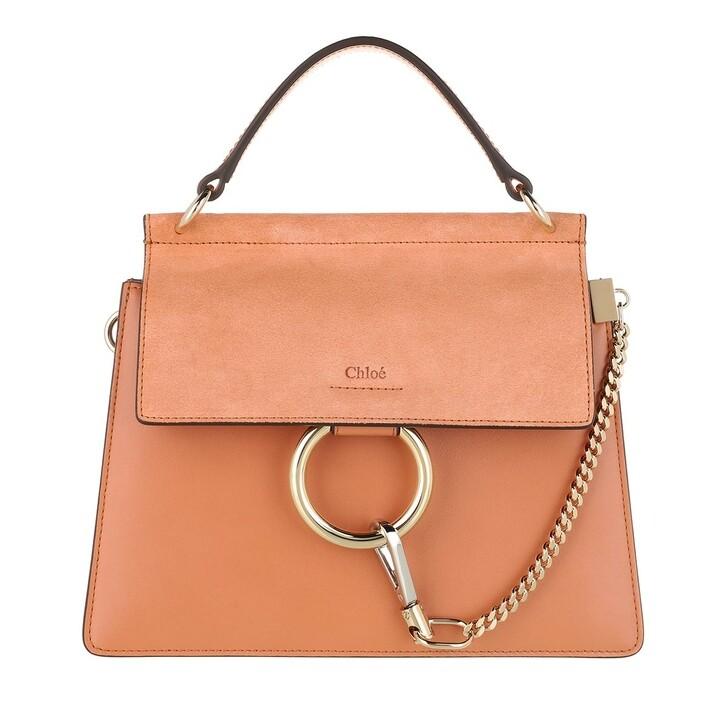 Handtasche, Chloé, Faye Crossbody Bag Calfskin Muted Brown