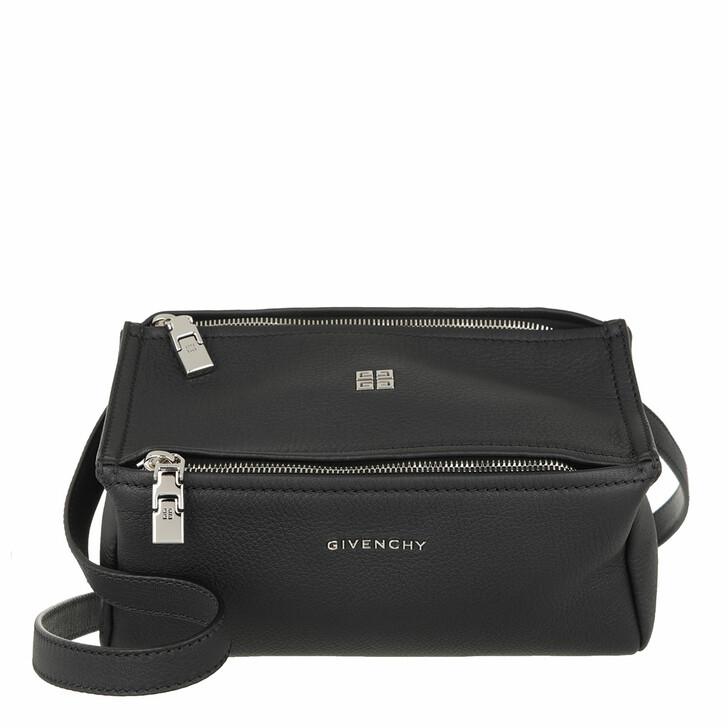 bags, Givenchy, Mini Pandora Crossbody Bag Grained Leather Black