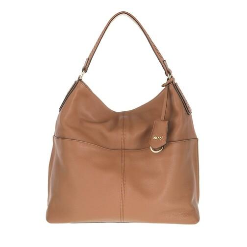 abro -  Beuteltasche - Shoulder Bag Sira - in cognac - für Damen
