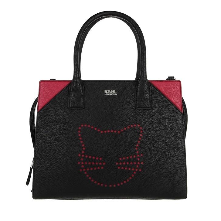 bags, Karl Lagerfeld, K/Stone Fun Tote A999 Black