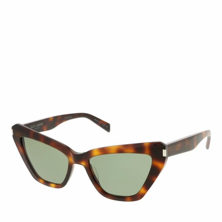 sunglasses, Saint Laurent, SL 466-002 54 Sunglass Woman Acetate Havana-Havana-Green