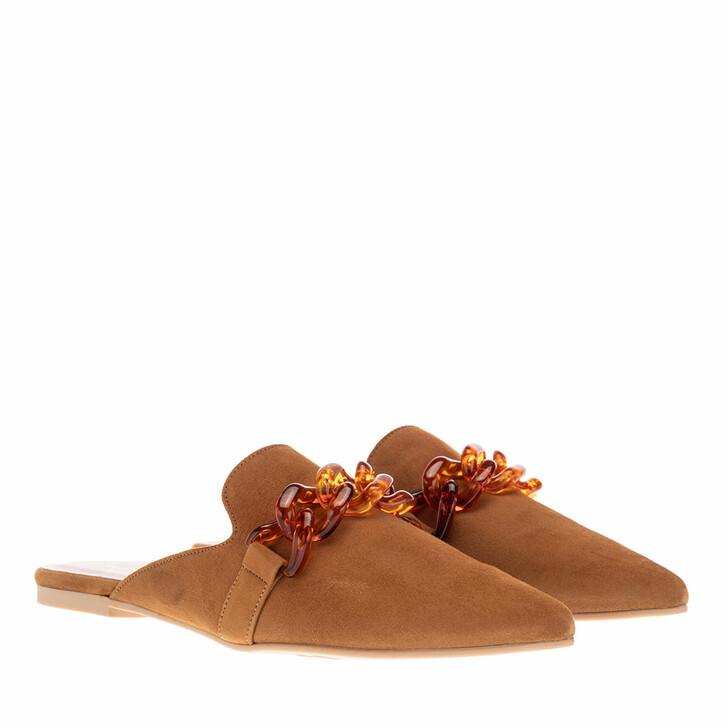 Schuh, Pretty Ballerinas, Ella Pointed Mules Cognac