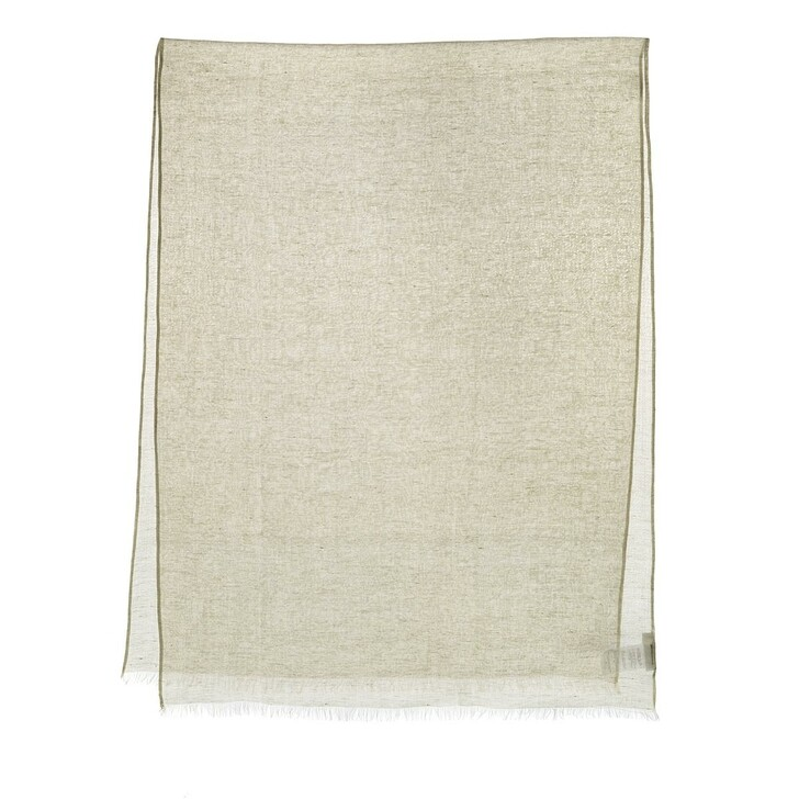 Schal, Closed, Scarf Summer Linen Shiitake