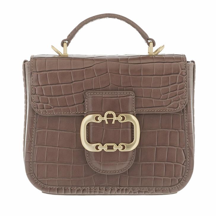 bags, AIGNER, Celia Handbag Mushroom Brown