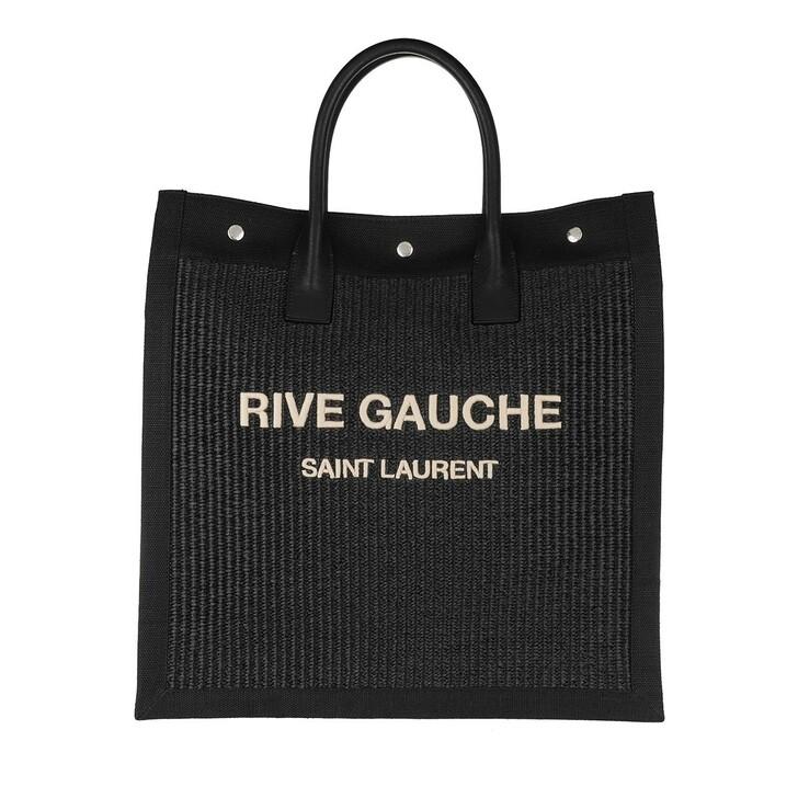 Handtasche, Saint Laurent, Tote Bag Black Natural