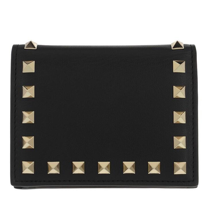 Geldbörse, Valentino, Small Continental Wallet Leather Black
