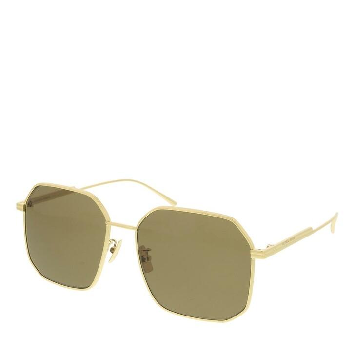 sunglasses, Bottega Veneta, BV1108SA-002 58 Sunglass WOMAN METAL GOLD