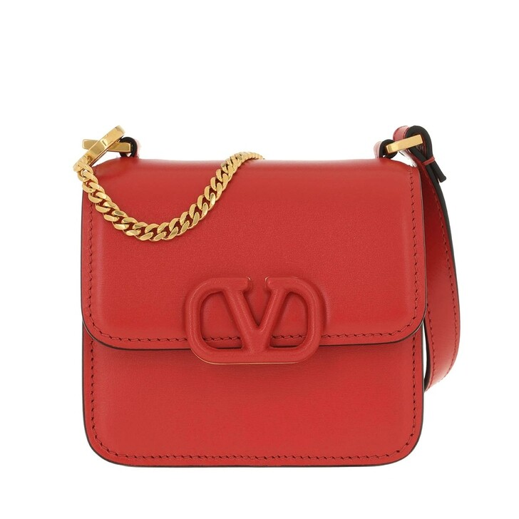 bags, Valentino Garavani, VSLING Mini Crossbody Bag Calfskin Gerbera