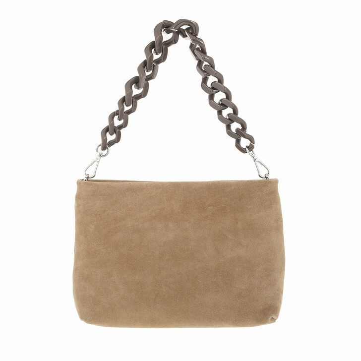 bags, Gianni Chiarini, Suede Crossbody With Resin Chain Additional Leathe Canapa