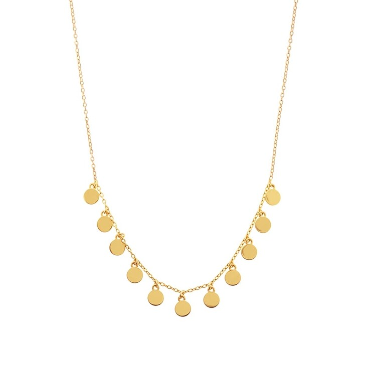 Kette, Leaf, Necklace Platelet 4 Silver Gold-Plated
