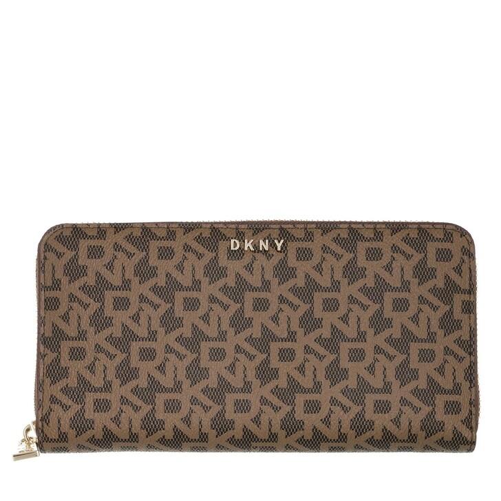 Geldbörse, DKNY, Bryant New Zip Around Wallet Mocha/Caramel
