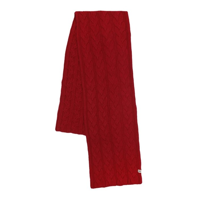 Schal, Roeckl, Braided Cashmere Scarf Classic Red