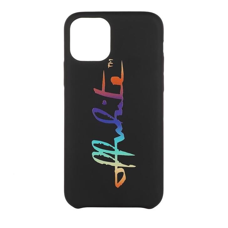 Smartphone/Tablet case (Case), Off-White, Rainbow 11 Pro Cover Black Multicolor