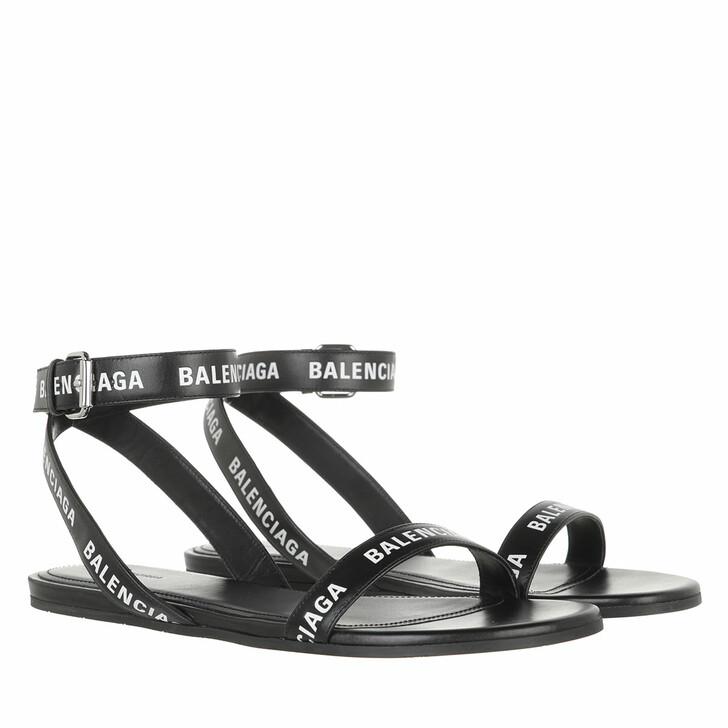 shoes, Balenciaga, Round Sandals Black White