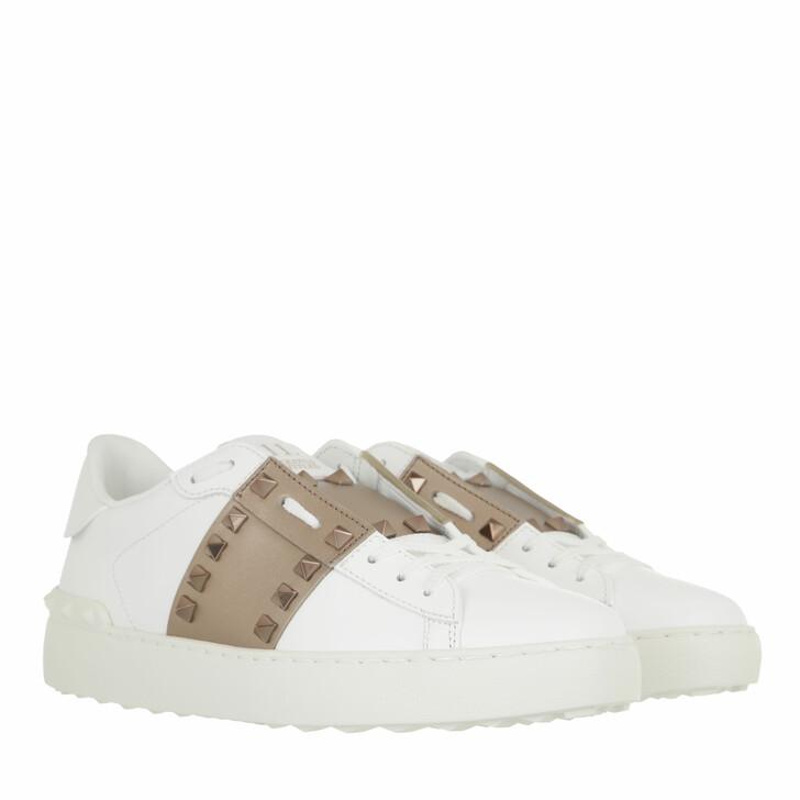 shoes, Valentino Garavani, Open Sneakers White Skin