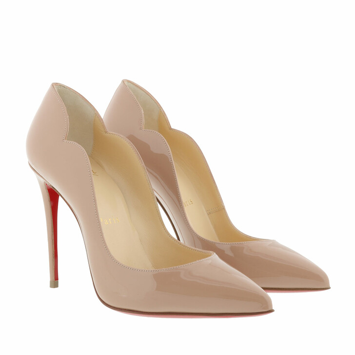 shoes, Christian Louboutin, Hot Chick Patent Pumps 100 Leather Nude