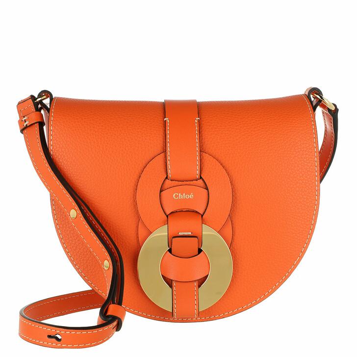 bags, Chloé, Small Darryl Crossbody Bag Calfskin Arancione