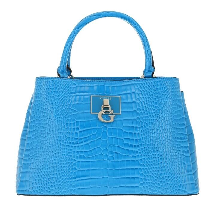 bags, Guess, Carabel Triple Satchel Blue