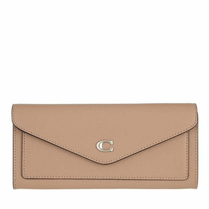 Geldbörse, Coach, Crossgrain Leather Wyn Soft Wallet Lh/Taupe