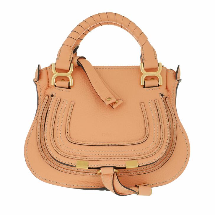 Handtasche, Chloé, Mini Marcie Crossbody Bag Peach Bloom