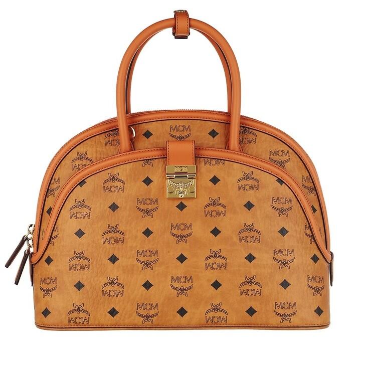 Handtasche, MCM, Anna Visetos Tote Large   Cognac