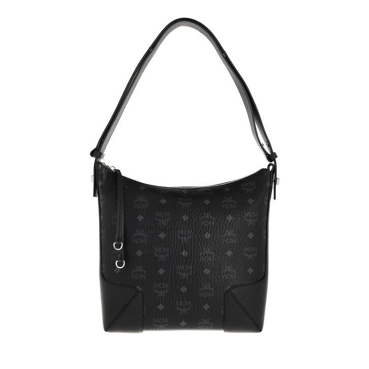 bags, MCM, Klara Visetos Hobo Medium  Black