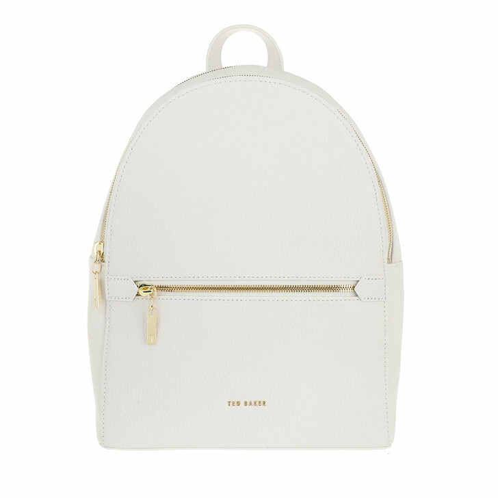 Reisetasche, Ted Baker, Cora Soft Leather Double Zip  Backpack Ivory