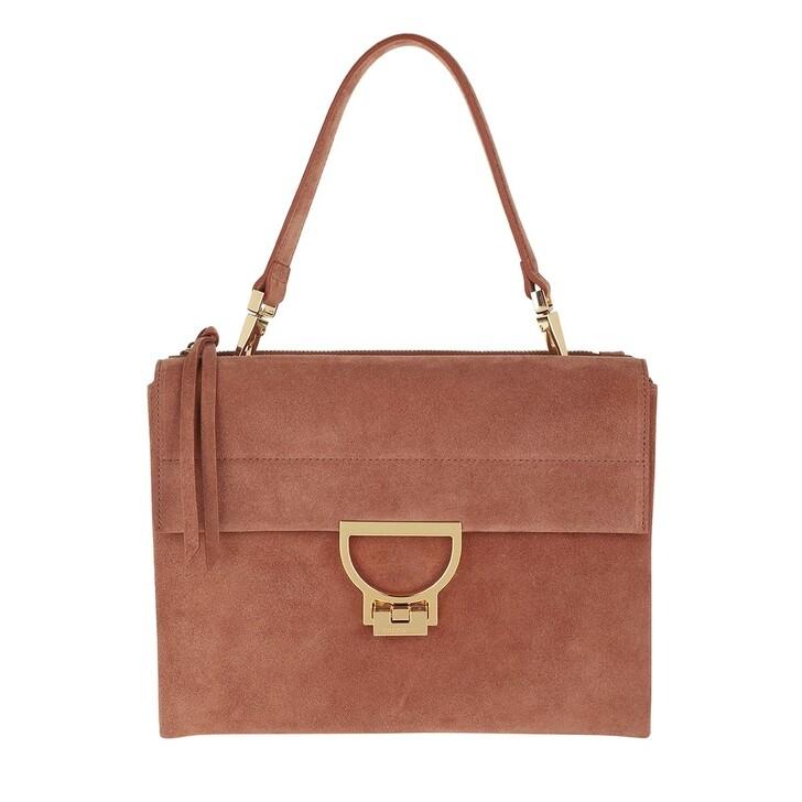 Handtasche, Coccinelle, Arlettis Suede Shoulder Bag Tan