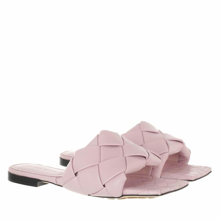 shoes, Bottega Veneta, Lido Intrecciato Flat Sandals Magnolia