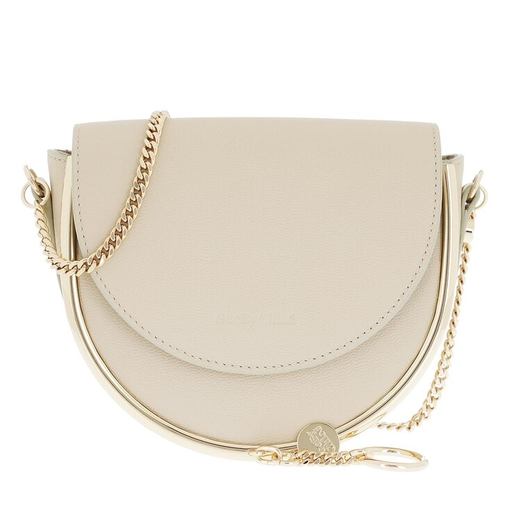 bags, See By Chloé, Mara Crossbody Bag Leather Cement Beige