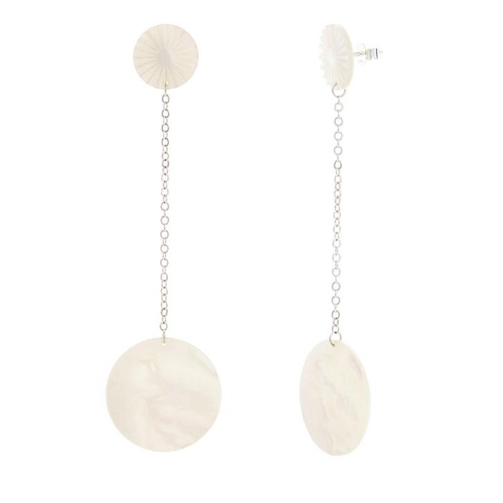 earrings, Saskia Diez, Mother of Pearl Earrings No1 Silver
