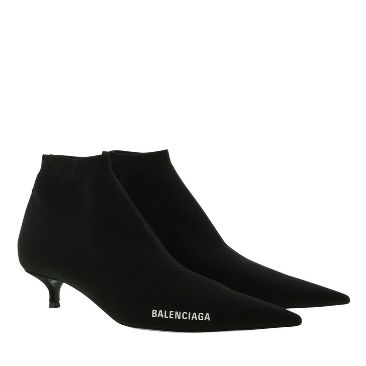 Schuh, Balenciaga, Knife Heeled Ankle Boots Black/White
