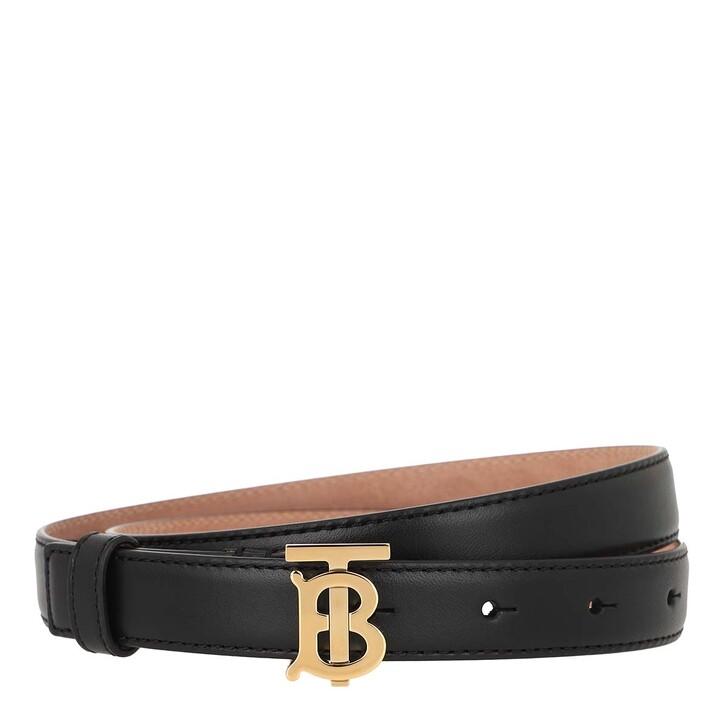 Gürtel, Burberry, Belt Leather Black/Light Gold