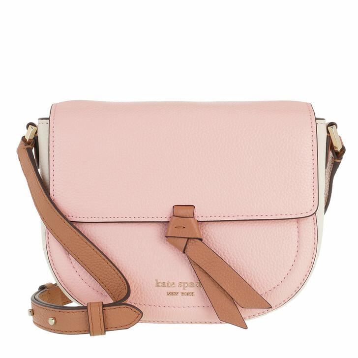 Handtasche, Kate Spade New York, Medium Saddle Bag Chalk Pink Multi