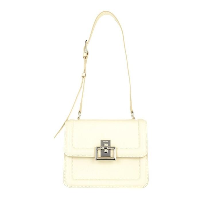 bags, Furla, Furla Villa S Crossbody White Cotton