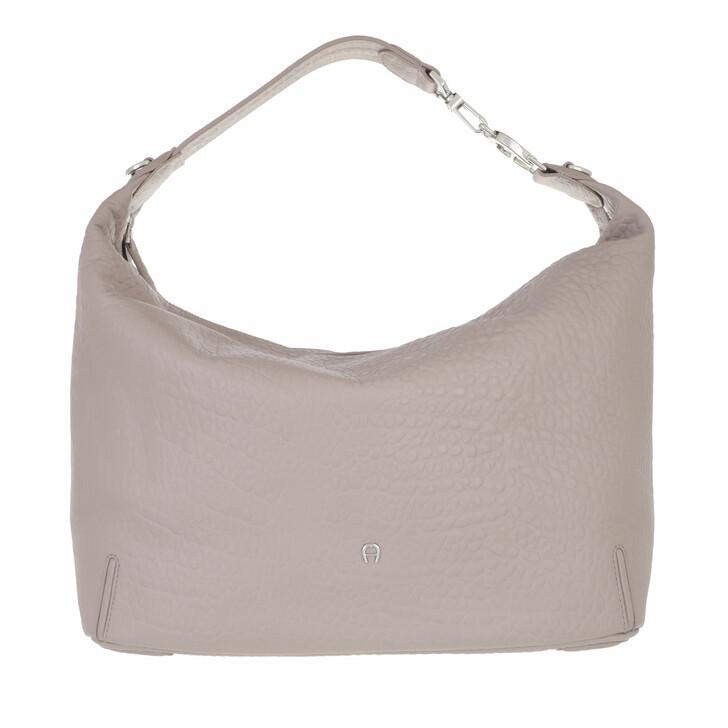 bags, AIGNER, Palermo Bucket Bag Clay Grey