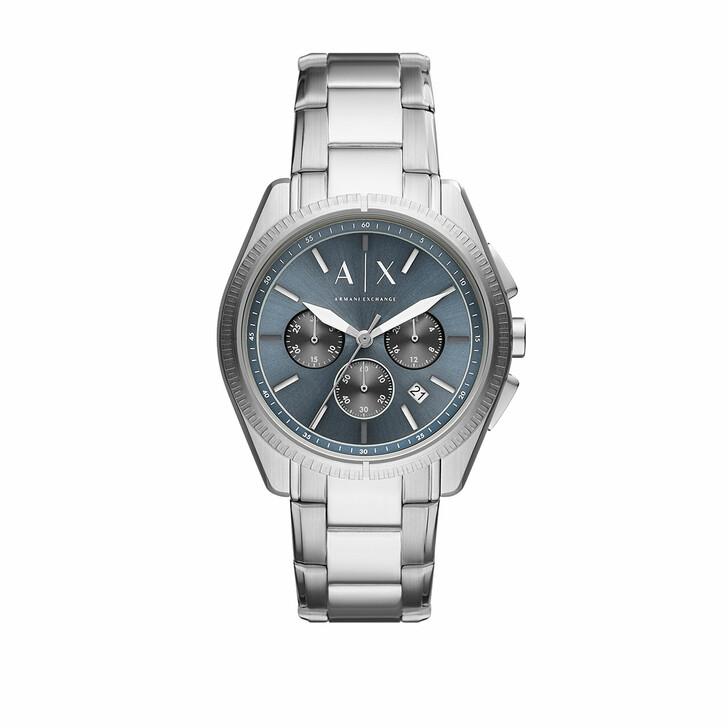 Uhr, Armani Exchange, Men Chronograph Stainless Steel Watch Silver