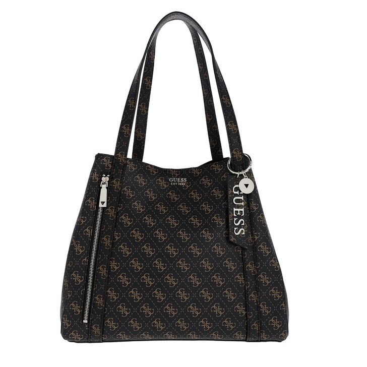 Handtasche, Guess, Naya Trap Tote Brown