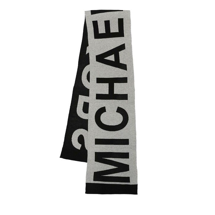 scarves, MICHAEL Michael Kors, Mk Bold Logo Scarf Pearl Heather