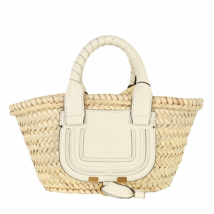 bags, Chloé, Marcie Basket Bag Natural White